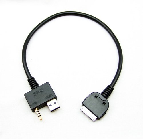 Goliton For Hyundai KIA iPod Charge and Play Audio, Video Cable - Control From Your Wheel (Ipod Nano Click Wheel 4th)
