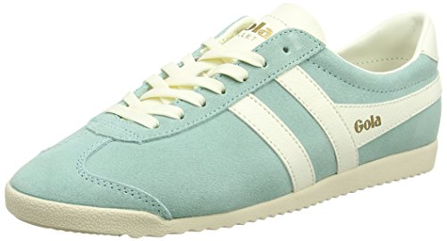 Gola Women's Bullet Suede Trainers, Green (Pastel Mint/Off White), 5 UK 38 ()
