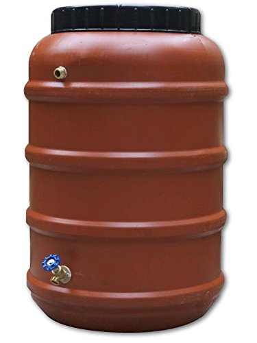 Rain Barrel, DIY Kit, Used Food Grade Barrel, Upcycled, 58 Gallon - Round Barrel Rain