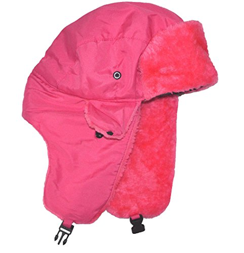 SW Women's Trapper Russian Winter Hat Neon Pink