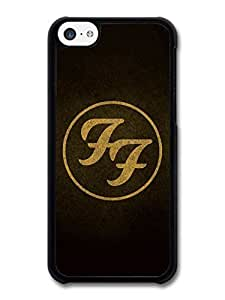 AMAF ? Accessories Foo Fighters Sepia Logo Black Background case for iPhone 5C