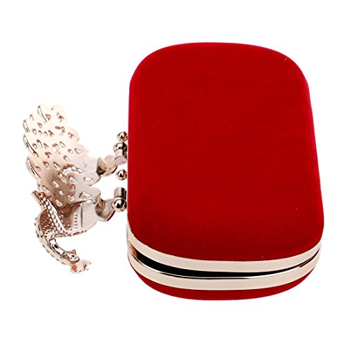pour FUBULE Red Red Rouge Pochette Femme Hqxqzvp