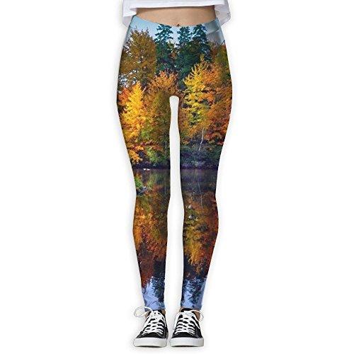 Spotrpant Autumn Landscape Women Printed Full-Length Yoga Workout Leggings For Running Outdoor Sports