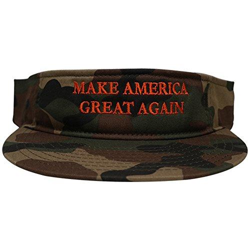 Donald Trump Visor, Make America Great Again - Quality Embroidered 100% Cotton Visor Cap - -