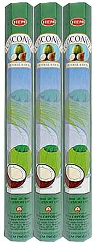 Coconut - Box of Six 20 Gram Tubes - HEM Incense