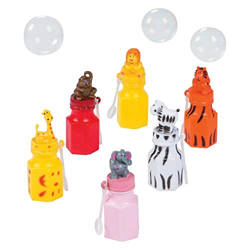 (Fun Express Zoo Animal Character Bubble Bottles (12)
