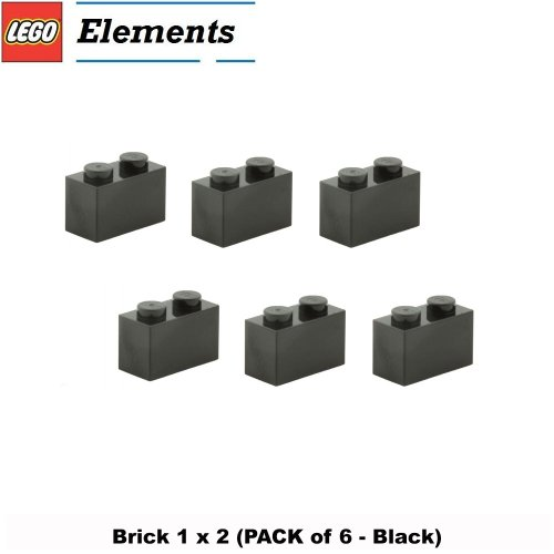 Lego Parts: Brick 1 x 2 (PACK of 6 - (Guarded Brick Set)