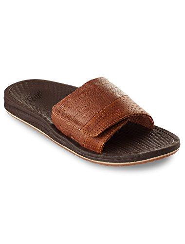 New Balance Men's Recharge Slide Sandal, Brown, 15 4E US