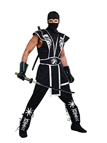 [Dreamgirl Men's Ninja Warrior Costume, Black, X-Large] (Ninja Dragon Costumes)