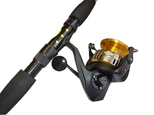 7' Blackfin Tuna Tournament Edition spinning fishing rod & reel (Blackfin Tuna)