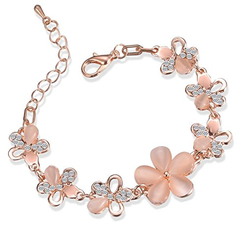 rs Bracelet Crystal Alloy Geometric Type Bracelet Ornament (Rose Gold) ()