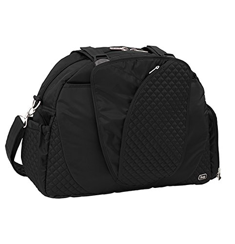 Midnight Black Lug Cartwheel Fitness//Overnight Bag