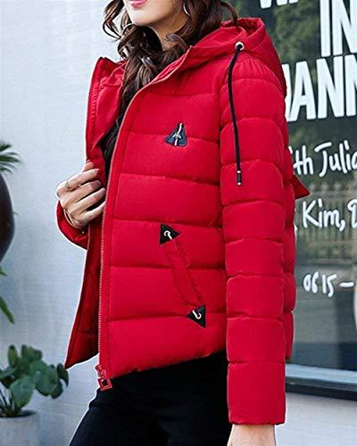 Incappucciato Giacca Slim Abbigliamento Moda Piumino Piumini Eleganti Fit Rot Lunga Cappotti Addensare Donna Calda Casual Invernali Trapuntata Manica rRxzwZ60qr