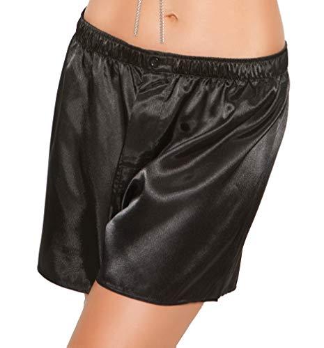 (Unisex Charmeuse Satin Adult Boxer Short Pajama Bottoms)