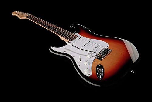 Guitarra eléctrica para zurdos Harley Benton st-20lh SB: Amazon.es ...