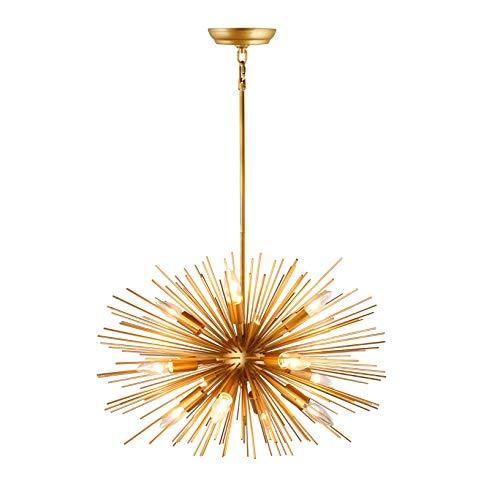 - 24 Inch Wide Inch Astra Sputnik Satellite Pendant Light Gold Spike Chandelier Starburst Lamp 12 Light (Rod)