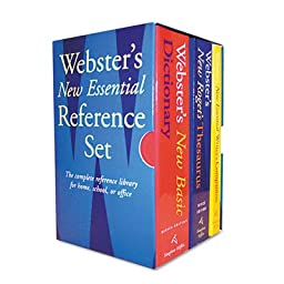 Houghton Mifflin Products - Houghton Mifflin - Webster\'s New Essential Reference 3-Book Desk Set, Paperback - Sold As 1 Set - Features three handy-size reference books. - Dictionary has 60,000 definitions. - Thesaurus has 35,000 synonyms. - Includes New E