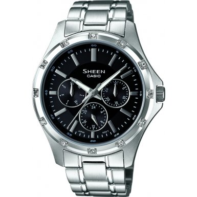 Sheen by Casio Ladies Stainless Steel Watch SHE-3801D-1ADR