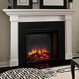 Simpli-Fire 36'' Built-In Electric Fireplace, 4800 BTU, Black, SF-BI36-E