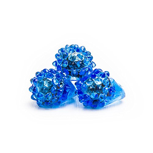 Fun Central 24 Pack - LED Flashing Jelly Bumpy Rings - Blinky Rings Party Favors for Adults & Kids - Blue