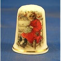 Porcelana China cobrable dedal de chica de rojo