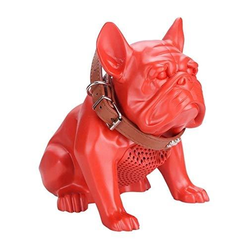 ブルドッグワイヤレスブルートゥーススピーカーヘビーサブウーファースピーカースマートスピーカークリエイティブギフトスピーカー (Color : Red)  Red B07QH431Y3