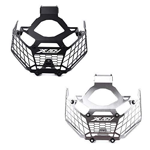 UltraSupplier Stainless Steel Mesh Grill Grille Headlight Guard Cover Protector Protection Shield Grid Net For 2017-2018 Honda X-ADV XADV X ADV 750 (Silver)