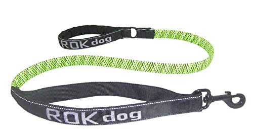 Rubber Strap Hyper (ROK Straps Large Leash, Green and Black)