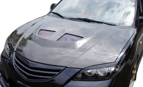 Carbon Creations Replacement for 2004-2009 Mazda 3 4DR EVO Hood - 1 Piece