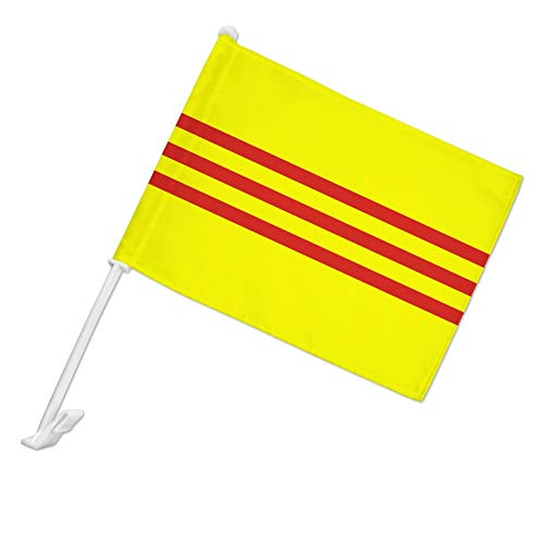 - GRAPHICS & MORE South Vietnam Flag Car Truck Flag with Window Clip On Pole Holder - Left Driver Side