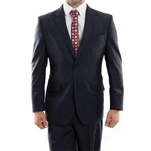 ton Classic Fit 100% Wool Suit New with Notch Lapels(52L/46Waist Regular) ()