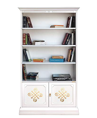 Arteferretto Librería Alta de Madera con Puertas Decoradas ...