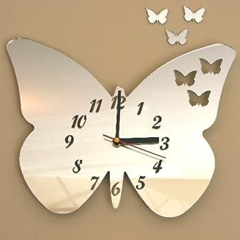Butterflies Out of Butterfly Clock Acrylic Mirror 25cm X 20cm