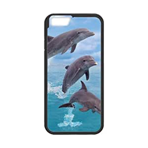 """LASHAP Phone Case Of cute Dolphin,Hard Case !Slim and Light weight and won't fade, Scratch proof and Water proof.Compatible with All Carriers Allows access to all buttons and ports. For LASHAP 6 (4.7"""")"""