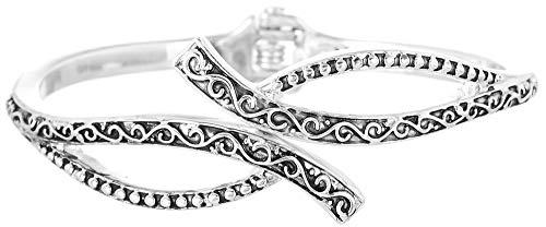 Napier Silver-Tone With Light Antique Cuff Bracelet