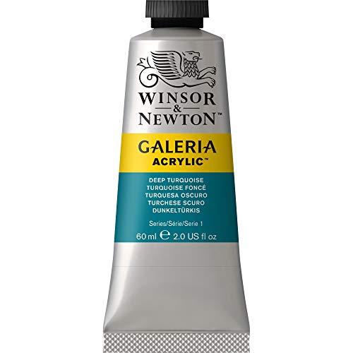 Deep Paint - Winsor & Newton Galeria Acrylic Paint, 60ml Tube, Deep Turquoise