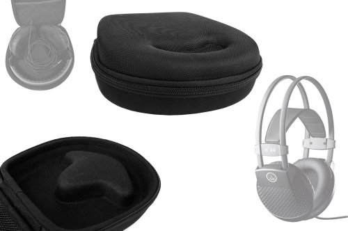 DURAGADGET Headphone Storage Case (Black) For AKG K44, K601, K603, K501, K271, K271MK2, K272, K272HD, 272 MKII, K240, K240S, K242 MKIIs, K242HD, K121S, K141MK2, K142HD, K141, K66, K77, K99, K540 Headphones, With Accessories Pocket by DURAGADGET