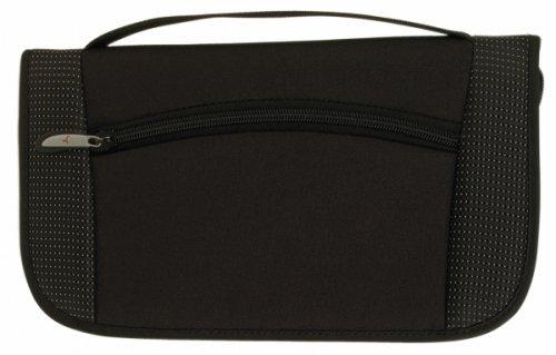 Travelon Document Organizer with Neck Wallet, Black, One Siz