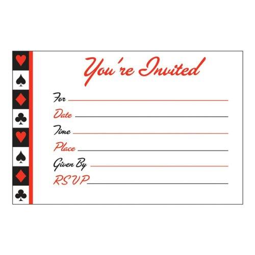 Card Night Invitations