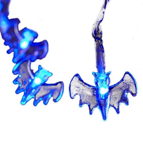 Batman LED String Lights Bat Led Halloween String Lights 10 LEDs for Covered Outdoor, indoor, Halloween, Cosplay Parties Decoration Decor (Halloween String Lights Walmart)