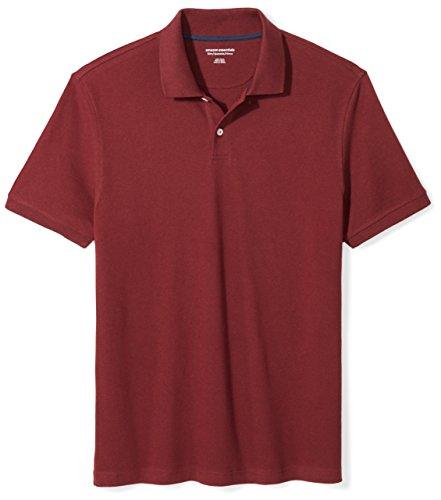 Amazon Essentials Men's Slim-Fit Cotton Pique Polo Shirt, Port, XX-Large by Amazon Essentials