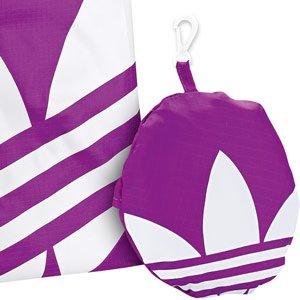 Bolsa Plegabl Adidas AC Pack Shopper Purple Blanco