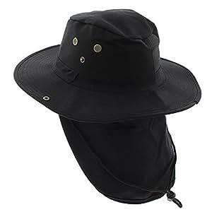 Amazon.com: Sombrero con cuello solapa con estampado de ...