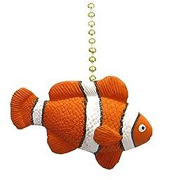 Tropical ReeF Clown Fish NeMo TiKi Ceiling Fan Light Pull