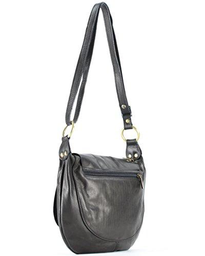 Sa095323rr cecilia Bag Black Shoulder Bag Leather Histoiredaccessoires Woman With SBn0a8a