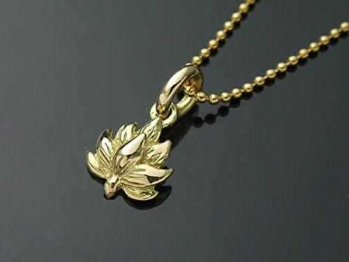 18金製の蓮の花ペンダントトップ[和風シルバーアクセサリーLOVECRAFT(ラブクラフト)]御守り 18K メンズ日本製