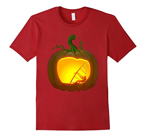 Mens windsurfing shirt Pumpkin Halloween XL Cranberry