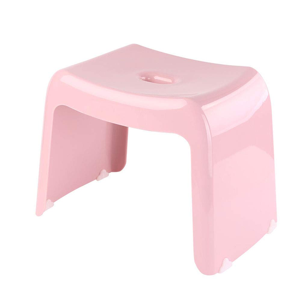 Pink LUHEN Household Footstool, Bathroom Anti-Skid Bench Fashion Creative Step Stool 36×25×30cm, Multi-color Selection (color   bluee)