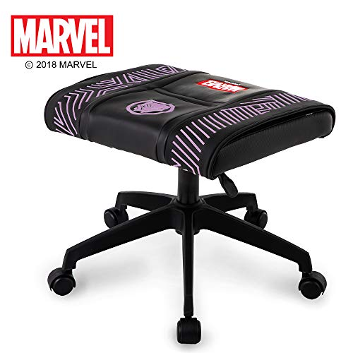 Neo Chair Licensed Marvel Gaming Stool Black Panther Stool Footrest Avengers Superhero Swivel Desk Home Office Executive Computer Video Gaming Ottoman Stool (Black Panther
