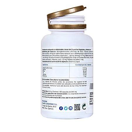 Melatonina para ayudar a conciliar el sueño - Amapola californiana, pasiflora, melisa, valeriana y tila para potenciar los efectos y ofrecer un sueño ...
